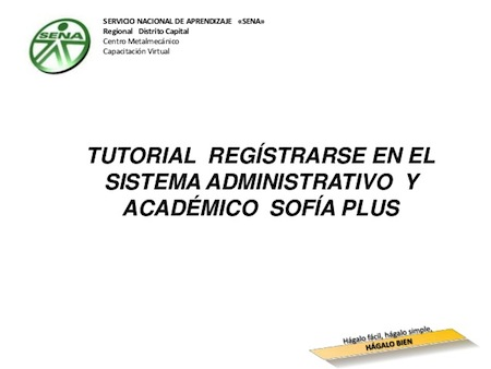 Pasos para registrarse en SENA SOFIA Plus