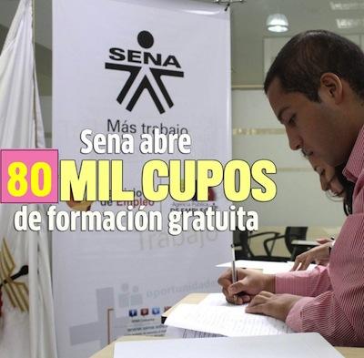 80 mil cupos para estudiar en el Sena
